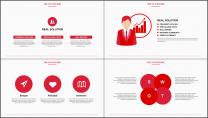 红色工作总结PPT通用模板示例5