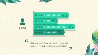 【述职报告、个人简介、工作总结】绿色简约优雅PPT示例5