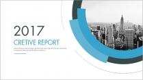 创意蓝色总结报告工作计划商务策划模板4