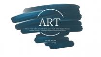 【手绘涂鸦】墨兰色系极简创意模板3