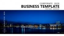 【灯火璀璨】蓝色高端大气华丽商务报告年终汇报项目