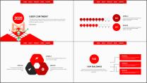 【企宣利器】简约红色公司企业品牌商务工作总结PPT示例6