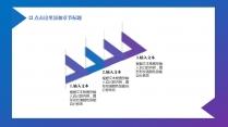 蓝紫色渐变简洁模板示例6