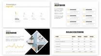 【精致视觉25】黑黄醒目简素商务风通用百搭模版示例3