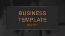 高贵金色实用商务多版式PPT模板示例2