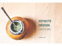 简洁清新杂志式排版keynote