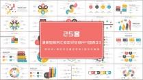 25套清爽型商务汇报年终总结PPT图表03