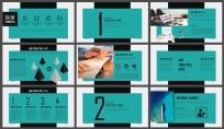 简约高端展览展示企业推介总结汇报商务演示培训讲座示例3
