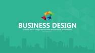 【PPT-给你好看】清新绿城市剪影商务品牌通用模板
