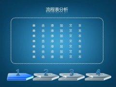 3D蓝色商务PPT模板示例3