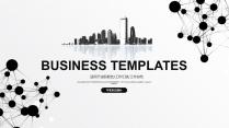 大气极简点线创意商务模板第二十八弹
