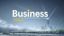 領航 燈塔 大氣 # 創意商務數據模板