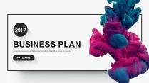 【简·彩】彩墨创意企业公司工作汇报PPT模板