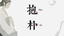 【字形字意】抱朴拆字典雅中国风模板