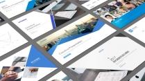 【合集】四套蓝色简约大气商务PPT模板(125页)