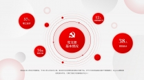 【党建】红色简约大气党建风工作总结模板6示例4