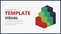 【创意方块】可视化精致年终汇报模板