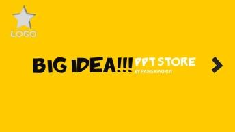 动态黑黄配色公关公司提案模板