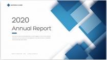 【创意几何】蓝色现代商务总结报告工作计划商务策划模