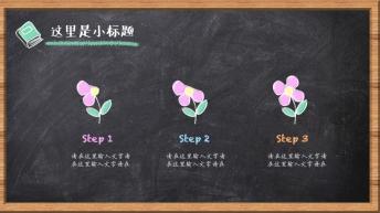 【黑板粉笔风格】【清新卡通】创意可视化多色实用模板示例6