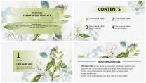 【翠绿】绿色小清新花卉简约高端大气极简通用商务总结示例3