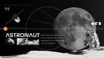 【太空】宇航员黑橙主题PPT工作模板示例5