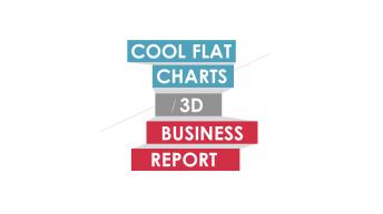 3D扁平商務年終總結新年計劃PPT模板