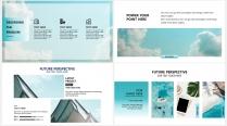 【丽日蓝天】极简高端大气蓝色商务报告年终汇报总结示例4
