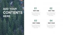 简约大气清新森林商务风汇报PPT通用模板示例3