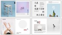 【设计感】清新简约杂志风PPT模板9示例4