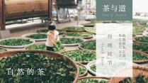 【茶与道】中式极简品牌企业文化介绍PPT模板