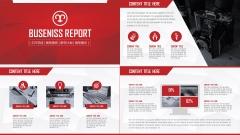 2014红色大气年终工作汇报总结多用模板!