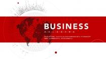 【經典商務】紅色商務解決方案通用類PPT模板5