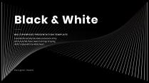 黑白简约汇报总结PPT模板