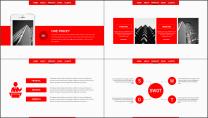 【企宣利器】简约红色公司企业品牌商务工作总结PPT示例4