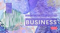 【迷彩创意】蓝紫抽象元素文艺模板
