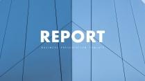 【欧美简约】创意蓝色图文混排现代商务汇报工作总结模