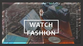 【轻扁平NO.22】手表时尚单品高端模板