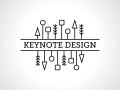 简洁黑白线条风格动态keynote