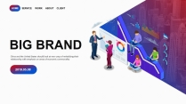 【创意商务】2.5D插画公司企业公司销售工作PPT