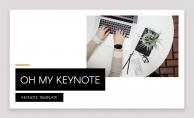 【OH MY KEYNOTE】优雅极简黑金模板示例2