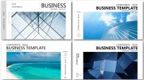 【藍色商務大氣合集】極簡高端商務報告年終項目總結