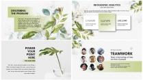 【翠绿】绿色小清新花卉简约高端大气极简通用商务总结示例4