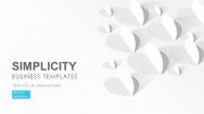 实用微立体风格商务报告模板01