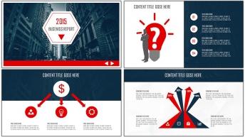 2015创意图文混排现代商务总结汇报PPT模板01