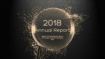 金色年终总结商务报告工作计划项目策划模板系列十一