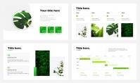 超清新绿色简约商务汇报模板示例3