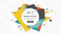多彩微粒体总结报告新年计划商务策划模板
