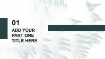简约大气清新森林商务风汇报PPT通用模板示例4