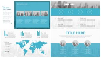 【超大气】欧美杂志风格年中/年终商务报告模板示例3